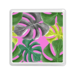 Tropical Greens Leaves Design Memory Card Reader (square) by Simbadda
