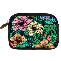 Hibiscus Flower Plant Tropical Digital Camera Leather Case by Simbadda
