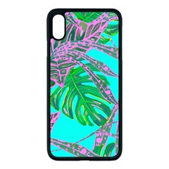 Painting Oil Leaves Reason Pattern Iphone Xs Max Seamless Case (black) by Simbadda