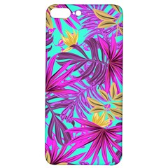 Tropical Greens Leaves Design Iphone 7/8 Plus Soft Bumper Uv Case by Simbadda