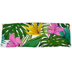 Tropical Greens Leaves Monstera Body Pillow Case Dakimakura (two Sides) by Simbadda