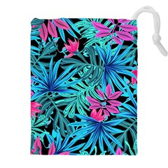 Leaves Picture Tropical Plant Drawstring Pouch (xxl) by Simbadda