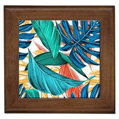 Leaves Tropical Summer Exotic Framed Tiles by Simbadda