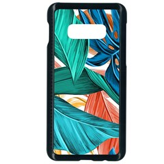 Leaves Tropical Summer Exotic Samsung Galaxy S10e Seamless Case (black)