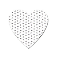 Cycling Motif Design Pattern Heart Magnet by dflcprintsclothing