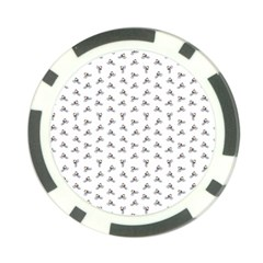 Cycling Motif Design Pattern Poker Chip Card Guard by dflcprintsclothing