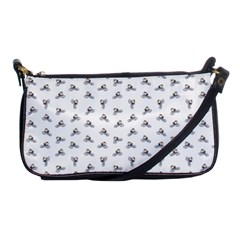 Cycling Motif Design Pattern Shoulder Clutch Bag by dflcprintsclothing