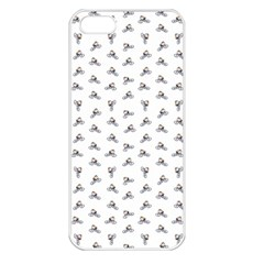 Cycling Motif Design Pattern Iphone 5 Seamless Case (white) by dflcprintsclothing