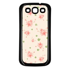 Pink Flowers Pattern Spring Nature Samsung Galaxy S3 Back Case (black) by TeesDeck