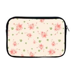 Pink Flowers Pattern Spring Nature Apple Macbook Pro 17  Zipper Case