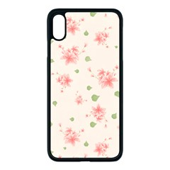 Pink Flowers Pattern Spring Nature Iphone Xs Max Seamless Case (black) by TeesDeck