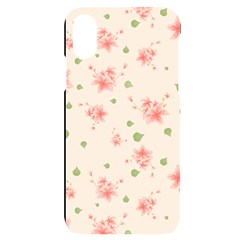 Pink Flowers Pattern Spring Nature Iphone X/xs Black Uv Print Case by TeesDeck