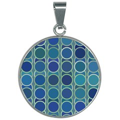 Blue Circles 30mm Round Necklace by TimelessFashion