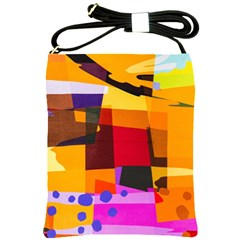 Colorful Abstract  Shoulder Sling Bag by TimelessFashion