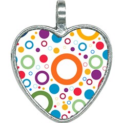 Colorful Circles  Heart Necklace by TimelessFashion