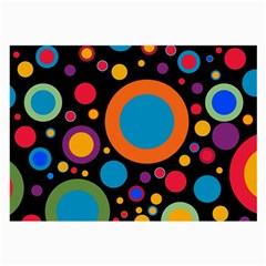 Colorful Circles Large Glasses Cloth (2 Sides) by TimelessFashion