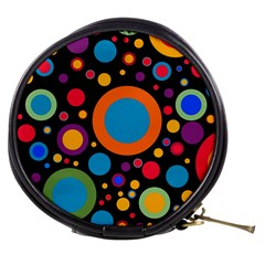 Colorful Circles Mini Makeup Bag by TimelessFashion