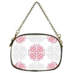 Cute Floral Design Chain Purse (two Sides)
