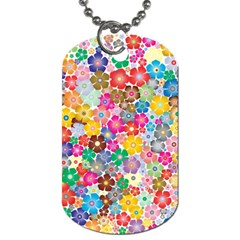 Flower Mix Dog Tag (two Sides) by TimelessFashion