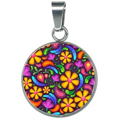 Flower Power! 20mm Round Necklace by TimelessFashion