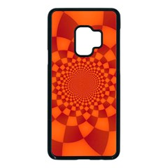 Fractal Artwork Abstract Background Orange Samsung Galaxy S9 Seamless Case(black) by Sudhe