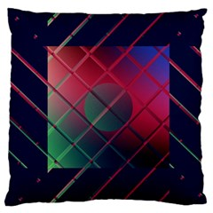 Fractal Artwork Abstract Background Large Flano Cushion Case (one Side)
