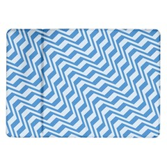 Geometric Blue Shades Diagonal Samsung Galaxy Tab 10 1  P7500 Flip Case