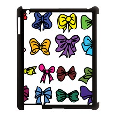 Bows Cartoon Ribbon Apple Ipad 3/4 Case (black) by Bajindul