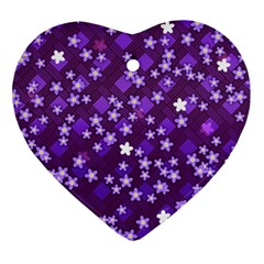 Ross Pattern Square Ornament (heart)