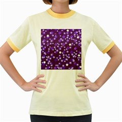 Ross Pattern Square Women s Fitted Ringer T Shirt