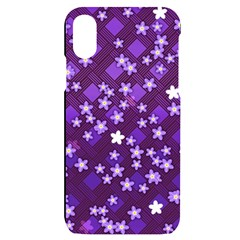 Ross Pattern Square Iphone X/xs Black Uv Print Case