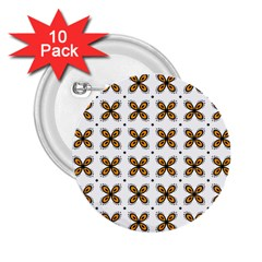 Pattern Orange 2 25  Buttons (10 Pack)