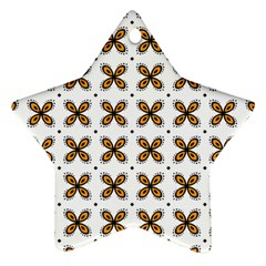 Pattern Orange Star Ornament (two Sides)