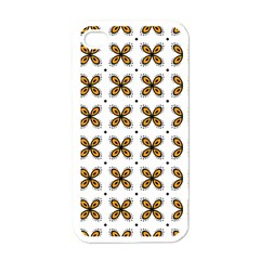 Pattern Orange Iphone 4 Case (white)
