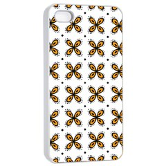 Pattern Orange Iphone 4/4s Seamless Case (white)