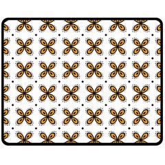 Pattern Orange Double Sided Fleece Blanket (medium)  by HermanTelo
