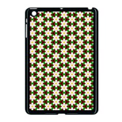 Pattern Flowers White Green Apple Ipad Mini Case (black)