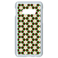 Pattern Flowers White Green Samsung Galaxy S10e Seamless Case (white)