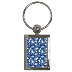 White Flowers Summer Plant Key Chain (rectangle) by HermanTelo
