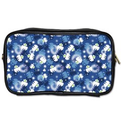 White Flowers Summer Plant Toiletries Bag (one Side)