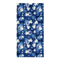 White Flowers Summer Plant Shower Curtain 36  X 72  (stall)