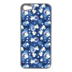 White Flowers Summer Plant Iphone 5 Case (silver)