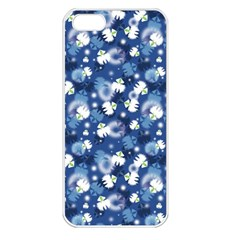 White Flowers Summer Plant Iphone 5 Seamless Case (white)