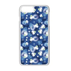 White Flowers Summer Plant Iphone 8 Plus Seamless Case (white)