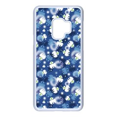 White Flowers Summer Plant Samsung Galaxy S9 Seamless Case(white) by HermanTelo