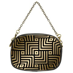 Geometric Pattern   Seamless Luxury Gold Vector Chain Purse (two Sides)