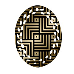 Geometric Pattern   Seamless Luxury Gold Vector Ornament (oval Filigree)