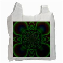 Abstract Background Design Green Recycle Bag (two Side)
