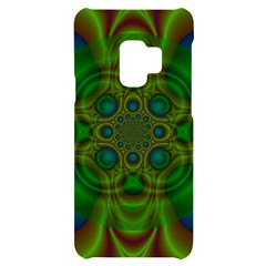 Abstract Background Design Green Samsung S9 Black Uv Print Case