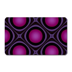 Abstract Background Design Purple Magnet (rectangular)